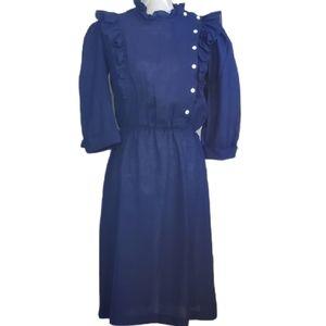 Vintage 80s ruffle dress